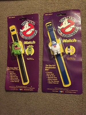 Ghostbusters Flip Watch Stay Puft Marshmallow Man & The Green Ghost 1986