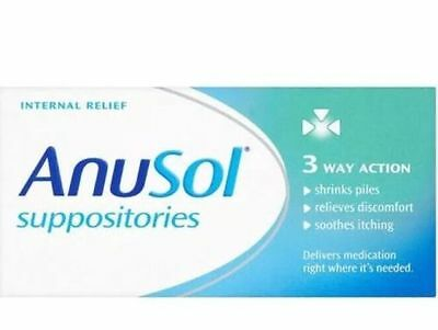 Anusol Haemmorhoid Piles Treatment | 3 Way Action | 24 Suppositories
