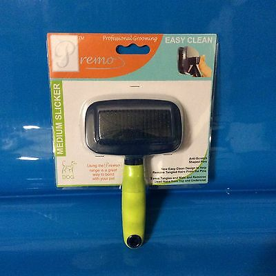 Premo Professional Dog Grooming Small Slicker Brush Easy Clean