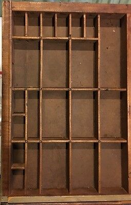 Antique PRINTERS TYPE CASE Or DRAWER End Section