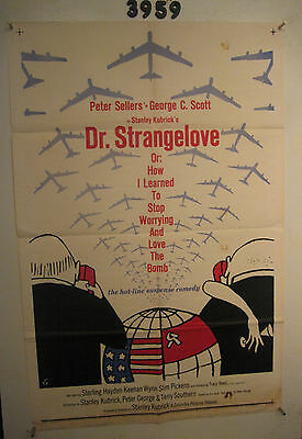 Dr. Strangelove Original 1sh Movie Poster 1964 Peter Sellers