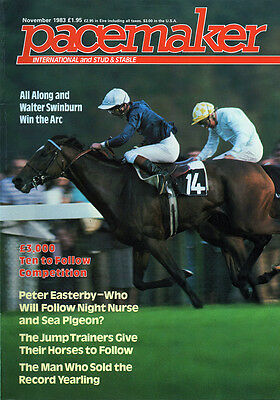 Pacemaker Magazine November 1983 - vintage horse racing publication