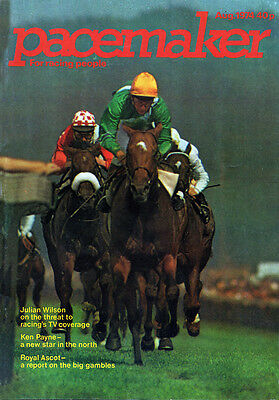 Pacemaker Magazine August 1974 - vintage horse racing publication