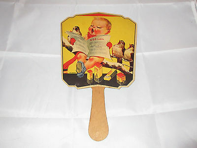 Vtg 666 Liquid Tablets Salve Nose Drops Advertising Fan Singing Baby & Birds
