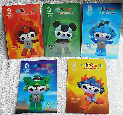 2008 Beijing Olympics, 3D Effect Postcard Set (5 Cards)