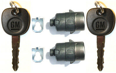 New CHEVY GM OEM PAIR Door Key Lock Cylinder 2 Keys 702912 - Same Day Shipping