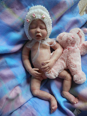 FULL Body SOLID SILICONE  GIRL Doll  -  MITCHELL Baby LINDSEY - 19 Inches