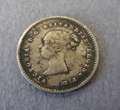 1838 Great Britain VICTORIA 2 Penny Twopence Coin