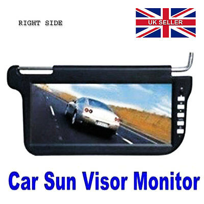 "12.3"" TFT LCD Universal Sun Visor Monitor, Adjust Viewing Ratio BLACK RIGHT Side"