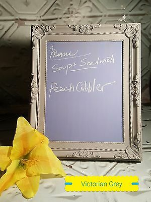 Shabby Chic Gray Chalkboard frame 10x8 Blackboard Ornate Vintage French Antique
