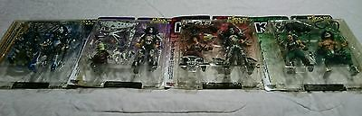 Kiss Set Of Four Psycho Circus Figures New