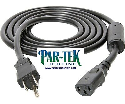 PAR-TEK Ballast Power Cord Phantom Xtrasun Galaxy 8' 120v Ferrite Ring AWG 16/3