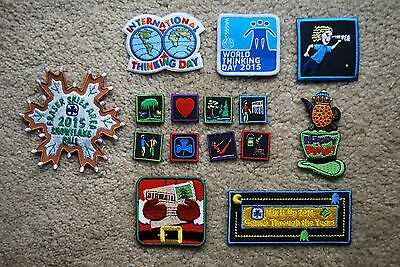 Girl Guide Scout Badges New Lot Of 15