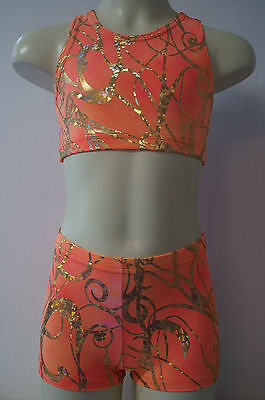 Gymnastics, Dance, Shorts and Top  Child Size:  S, M