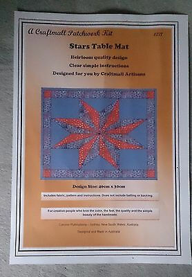 Stars Table Mat Patchwork Kit by Caronie 40 x 30cm inc fabric for one mat