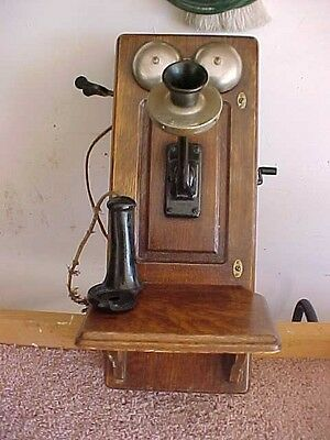 1900 Western Electric Oak Wall Telephone