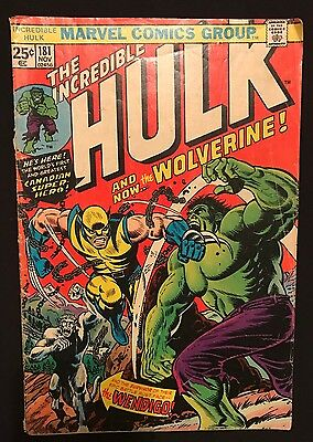 Incredible Hulk #181 Comic Marvel Key 1st Full Appearance Of Wolverine 1974
