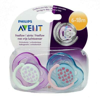 Philips Avent Fashion Soothers 6-18 Months 2 Pack Flowers