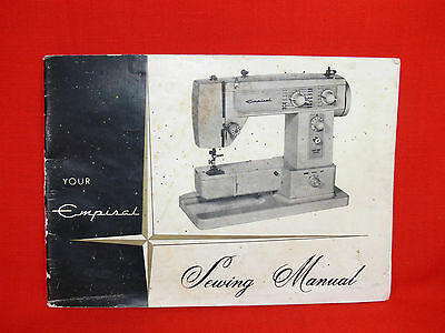 Vintage EMPISAL Zig-Zag Sewing Machine Instruction Manual - Good Condition