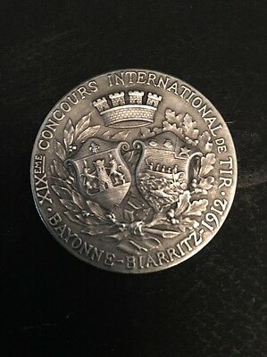 medal f .rasumny Bronze Silver 19TH CENTURY Competition Shooting Bayonne