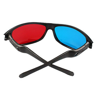 Red Blue 3D Glasses or Clip on Flip-up For Dimensional Anaglyph Movie Game DVD