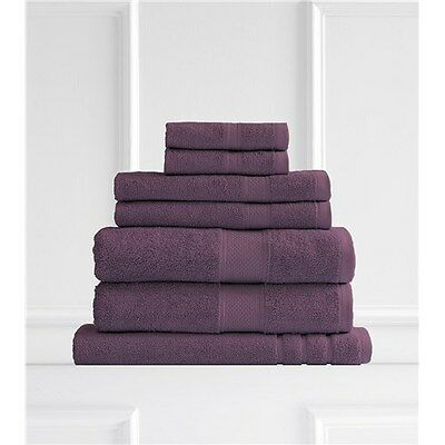 Renee Taylor Clarrisa Egyptian Cotton 650GSM 7 Piece Towel Set Wine Brand New