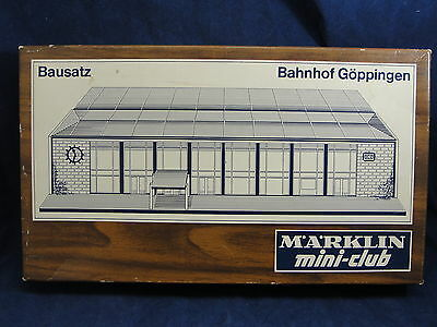 NOS Marklin Mini Club 8960 Goppingen Station Buuilding Kit Z Scale Train Layout