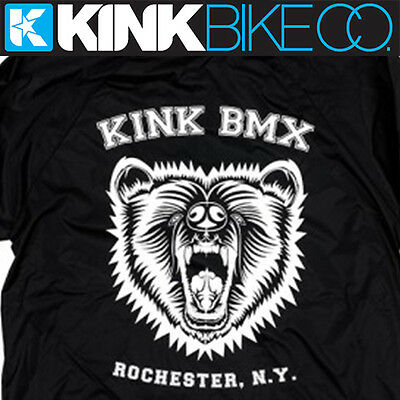BMX Wind Breaker KINK BMX Grizzly (Black) Button Up Top (Various sizes)