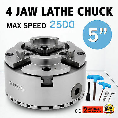 4 Four Jaw 125mm Self Centering Lathe Chuck M33 Scroll Independent Metal Wood