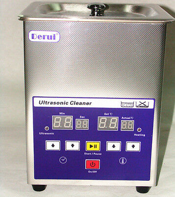 Digital Ultrasonic Cleaner Timer Heater LED Display DR-LQ13 For Jewelry Rings