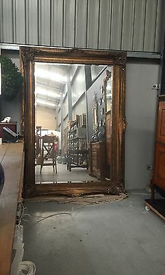 Extra Large Ornate Vintage Gold English Mirror