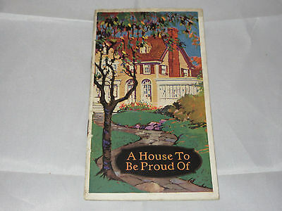"""Vtg Devoe & Raynolds Paint """"A House To Be Proud Of"""" Advertising Booklet"""