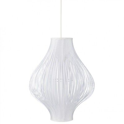 "Paris Prix - Lampe Suspension Pliante ""Yisa"" 44cm Blanc"