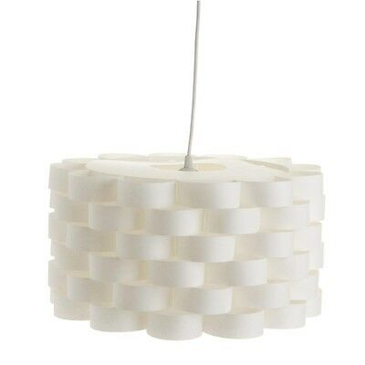 "Paris Prix - Lampe Suspension ""Moki"" 42cm Blanc"