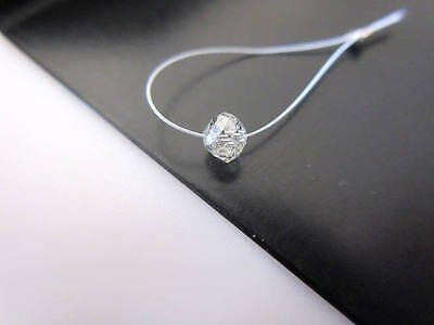 1 piece 4mm Rare Natural Clear White Diamond Faceted Rondelle Beads DDS481/5