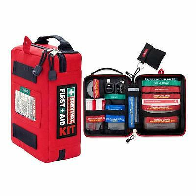 Mini First Aid Survival Gear Medical Trauma Kit Rescue Bag Car Red Durable New