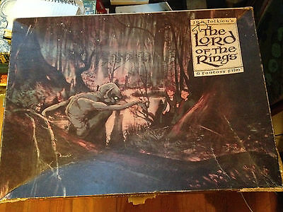 1978 the lord of the rings gollum puzzle vintage 20 x 27