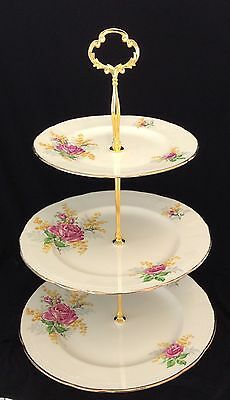 Lovely Alfred Meakin Three Tier Vintage Cake Stand
