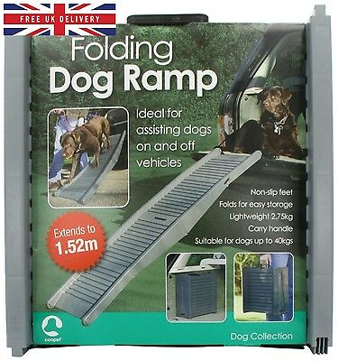 Folding Dog Travel Ramp Suitable for Small, Medium and Large Sized Dogs
