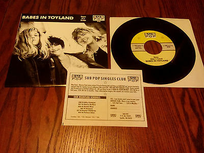 "Babes In Toyland - House - 7"" USA - Sub Pop Singles Club"