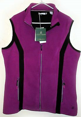 Ladies Green Lamb Golf Gilet Fleece Sleeveless Body Warmer Purple Black 16