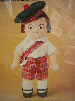 Campbell Soup Kid Boy Doll Sewing Craft Kit Red Tartan Plaid Vintage New, Sealed