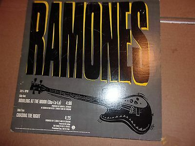 """ramones record 12 """"promo signed howling at the moon/chasing the night"""