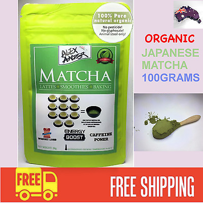 PURE ORGANIC Japanese Matcha Green Tea Powder - 100g - CHRISTMAS Quality, USDA
