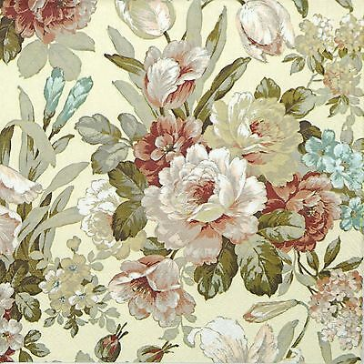 4x Paper Napkins for Decoupage Decopatch Craft - Kate Cream