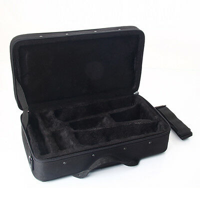 New Protable Oxford Cloth Black Professional Straight Clarinet Case Big Bag UK