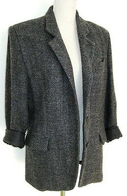 Vintage 1980s Blazer Jacket Grey Equipment M