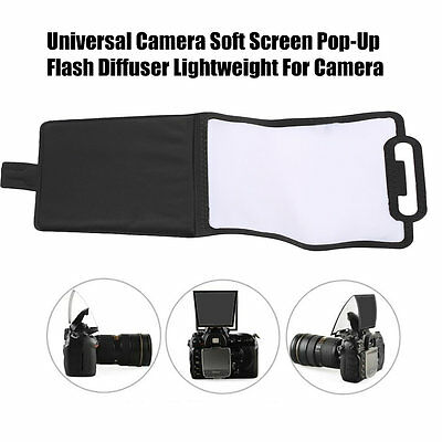 Universal Camera Soft Screen Pop-Up Flash Diffuser Lightweight For Camera UK