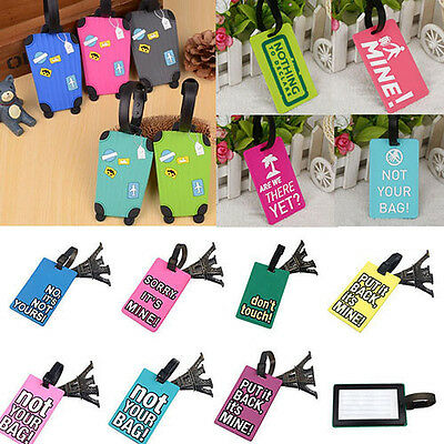 Travel Luggage Bag Tag PVC Suitcase Baggage Office Name Address ID Label Luxury