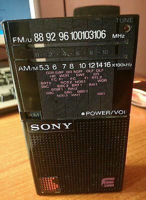 SONY ICF-17 pocket radio transistor portable.
